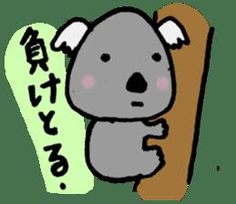 Baseball rooters of koalas. sticker #4750750