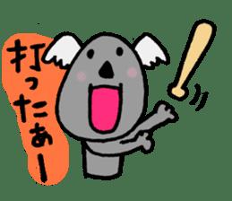 Baseball rooters of koalas. sticker #4750767