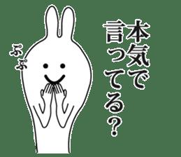 Oh! Funny Rabbit sticker #4750788