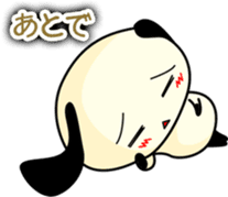 Cute dog wanchome sticker #4752308