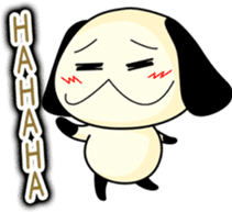 Cute dog wanchome sticker #4752319