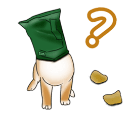 Potato chips dog. sticker #4753431