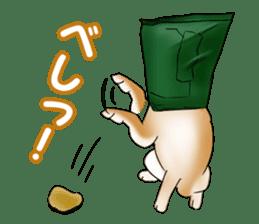 Potato chips dog. sticker #4753439
