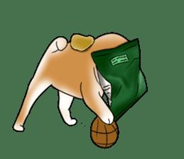 Potato chips dog. sticker #4753449