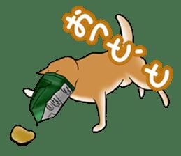 Potato chips dog. sticker #4753452