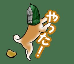 Potato chips dog. sticker #4753457