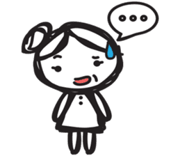minigirl cute sticker #4754562
