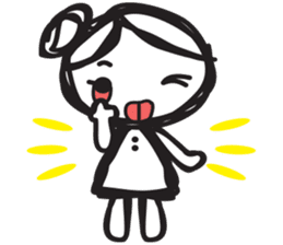 minigirl cute sticker #4754576