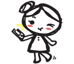minigirl cute sticker #4754577