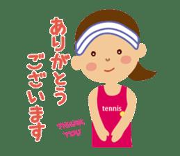 Tennis girls 2nd sticker #4755464