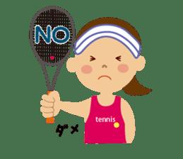 Tennis girls 2nd sticker #4755467