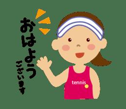 Tennis girls 2nd sticker #4755468