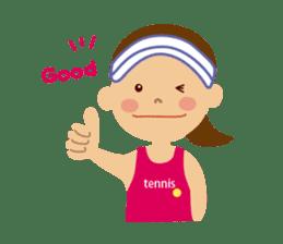 Tennis girls 2nd sticker #4755470