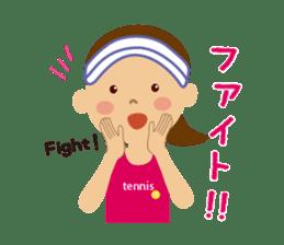 Tennis girls 2nd sticker #4755475
