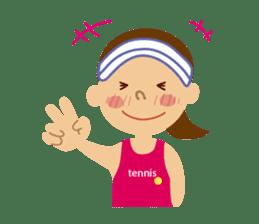 Tennis girls 2nd sticker #4755476