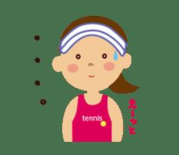 Tennis girls 2nd sticker #4755479