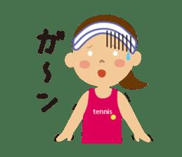 Tennis girls 2nd sticker #4755483