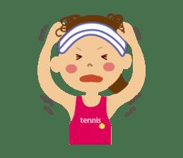 Tennis girls 2nd sticker #4755484