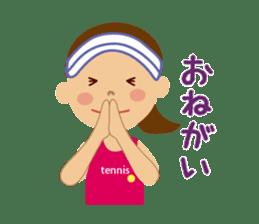 Tennis girls 2nd sticker #4755490