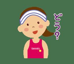 Tennis girls 2nd sticker #4755491
