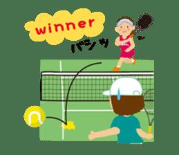 Tennis girls 2nd sticker #4755502