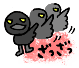 Baseball rooters of ravens. sticker #4755671
