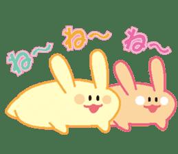 life's conversation of Rabbit's friends2 sticker #4758584