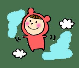 A girl wear costume of bear sticker #4759469