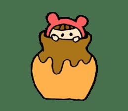 A girl wear costume of bear sticker #4759481