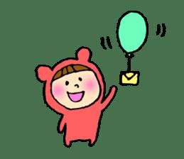 A girl wear costume of bear sticker #4759484