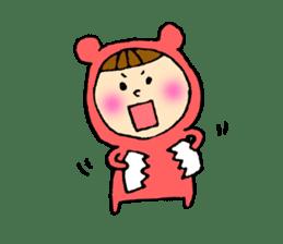 A girl wear costume of bear sticker #4759490