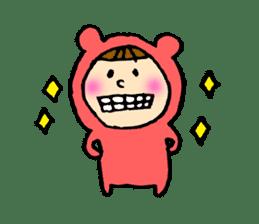 A girl wear costume of bear sticker #4759499
