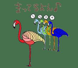 Rainbow Flamingo sticker #4760032