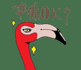 Rainbow Flamingo sticker #4760040