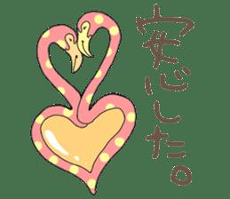 Rainbow Flamingo sticker #4760052