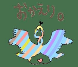 Rainbow Flamingo sticker #4760055