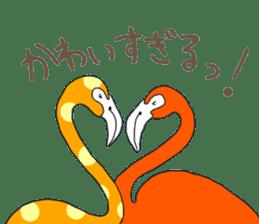 Rainbow Flamingo sticker #4760063