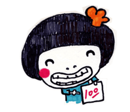 Being cute, blushing.  2 sticker #4762668