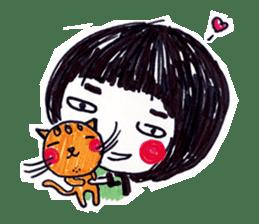 Being cute, blushing.  2 sticker #4762669