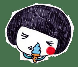 Being cute, blushing.  2 sticker #4762673