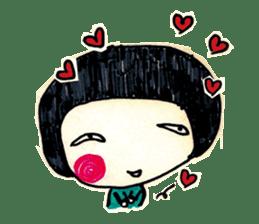 Being cute, blushing.  2 sticker #4762678