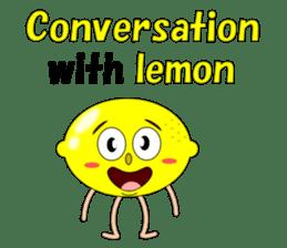 Conversation with lemon English sticker #4764264