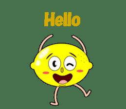 Conversation with lemon English sticker #4764266