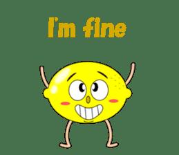 Conversation with lemon English sticker #4764267
