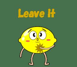 Conversation with lemon English sticker #4764276