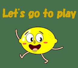 Conversation with lemon English sticker #4764282