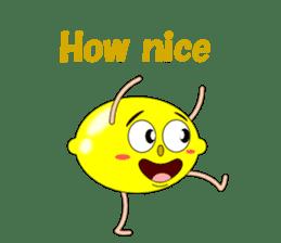 Conversation with lemon English sticker #4764285