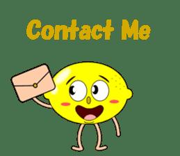 Conversation with lemon English sticker #4764293