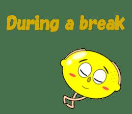 Conversation with lemon English sticker #4764294