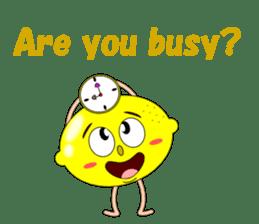 Conversation with lemon English sticker #4764297